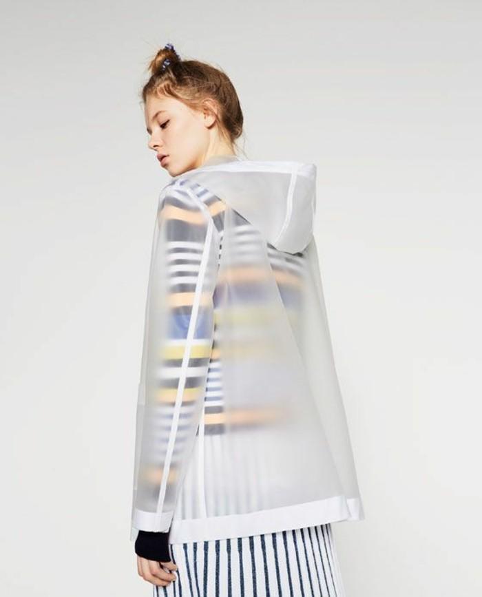 Modetrends durchsichtige Kleider Zara Mantel