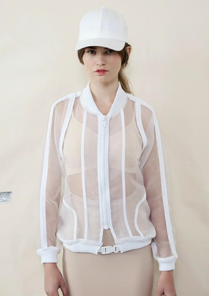 Modetrends transparente Kleider sportliche Jacke