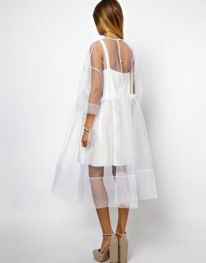 Modetrends durchsichtiges Kleid transparenster Überkleid