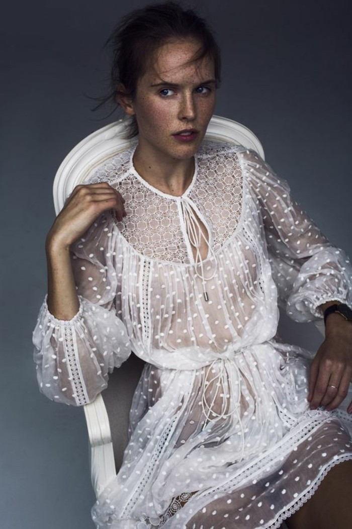 Modetrends transparente Kleider Designer Mode