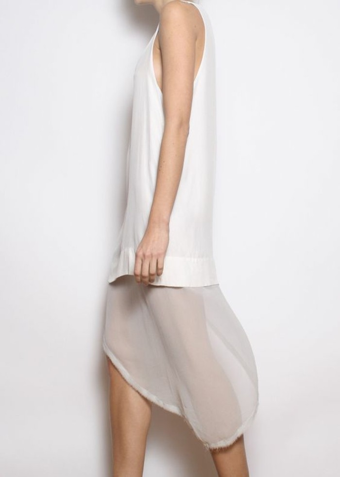 Modetrends transparente Kleider Sommerkleid weiß
