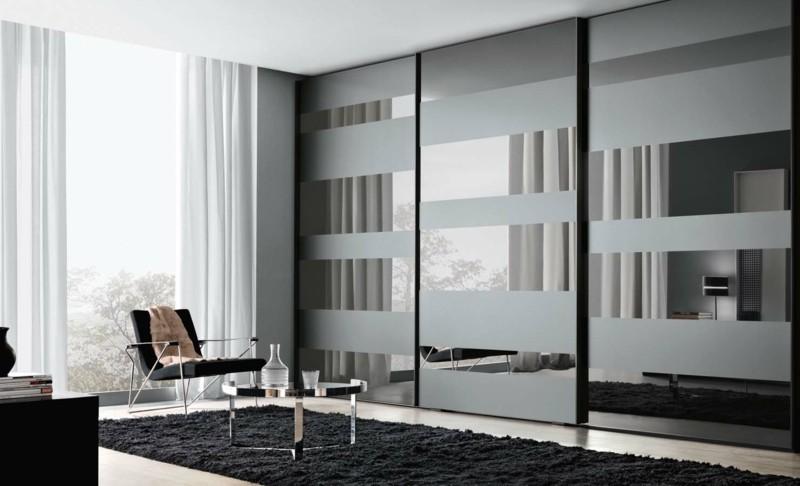 Schlafzimmer Möbel Kleiderschränke mit Schiebetüren reflektierend