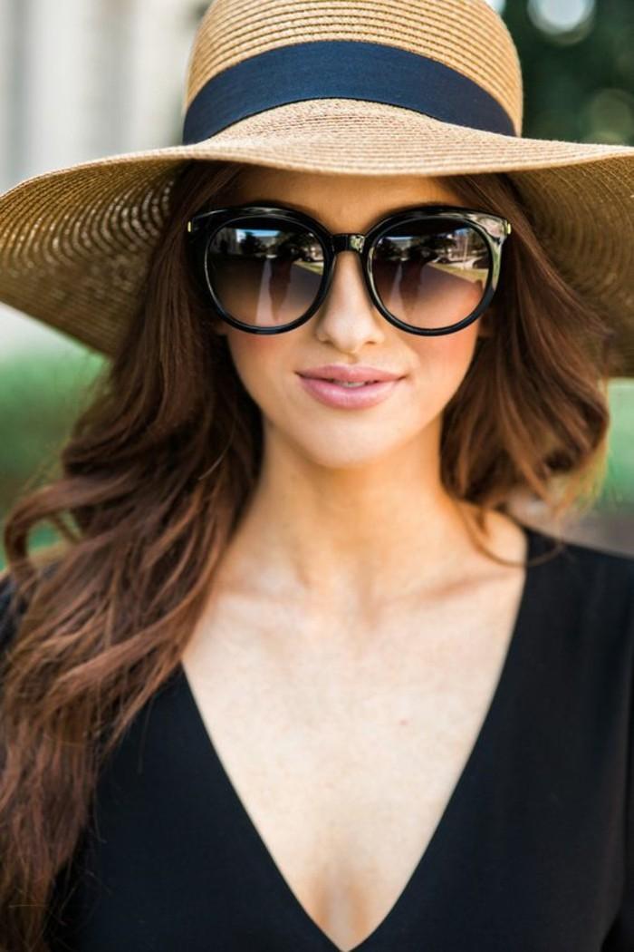 Sonnenbrille reflektierend Damenmode Accessoires Sommerhut