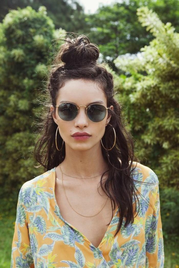Sonnenbrille rund Damenmode Accessoires