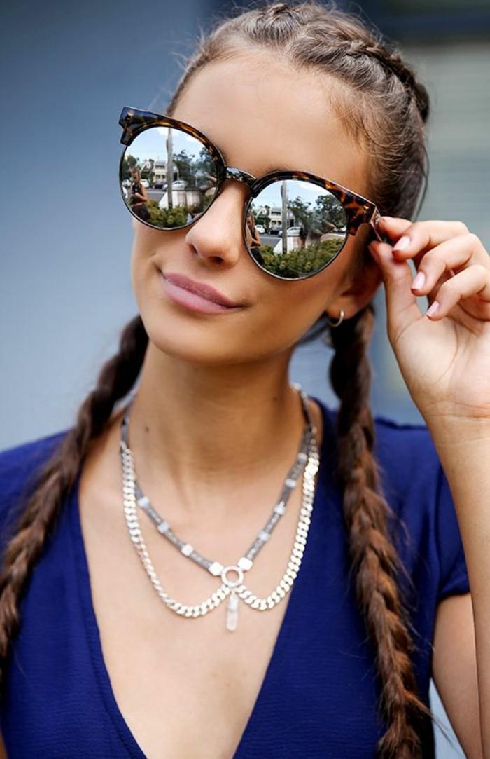 Sonnenbrillen reflektierend Damen Mode Accessoires