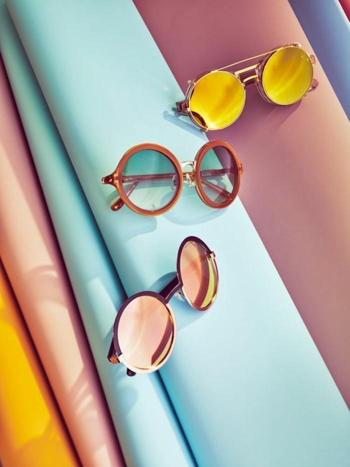 Sonnenbrillen reflektierend rund Damen Modetrends Accessoires