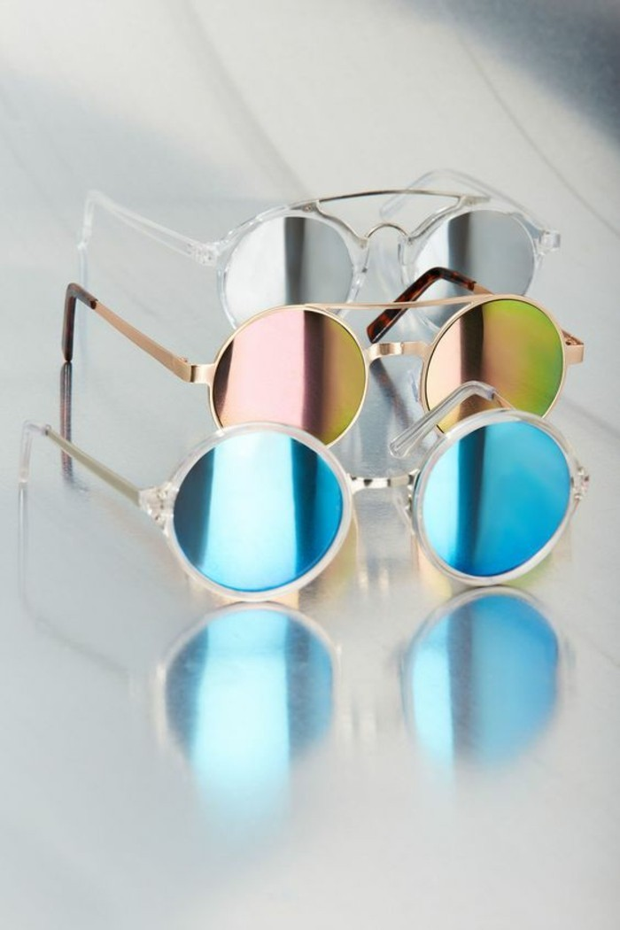 Sonnenbrillen reflektierend rund Modeaccessoires Damen