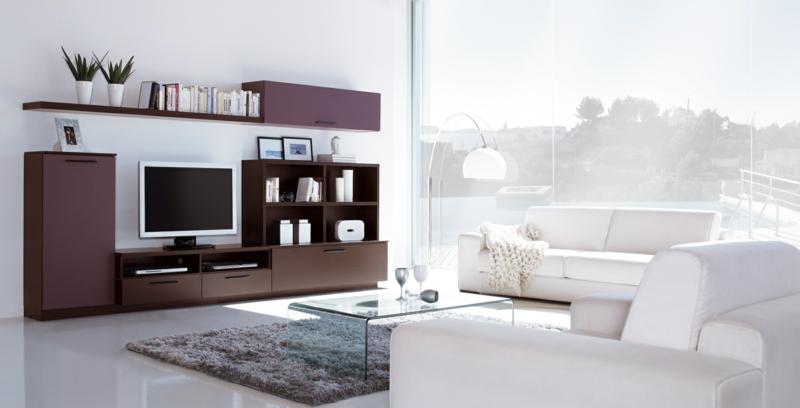 TV Wände Wohnzimmer Möbel TV Wohnwand Couchtisch Glas