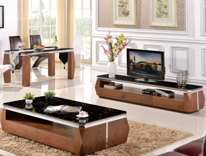TV Wände Wohnzimmer Möbel TV Wohnwand Luxus Einrichtung Wohnzimmer