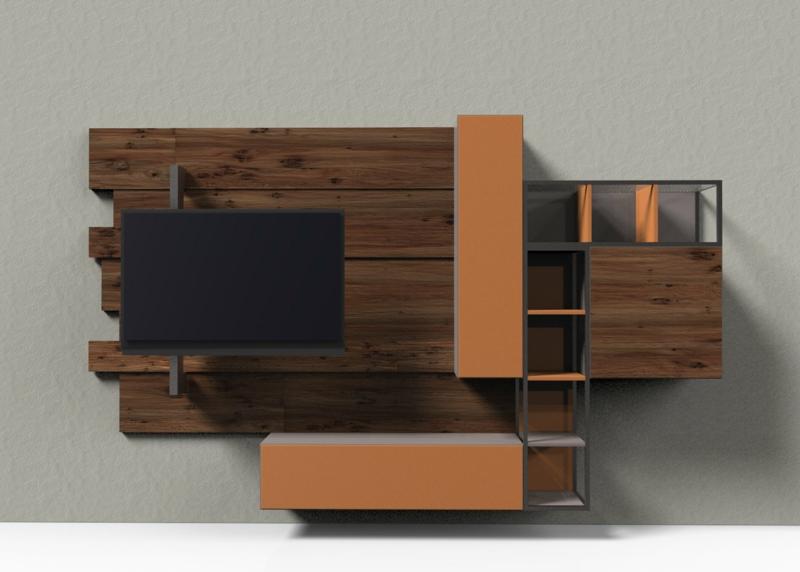 TV Wände Wohnzimmermöbel Holz Holzmöbel Einrichtungsbeispiele