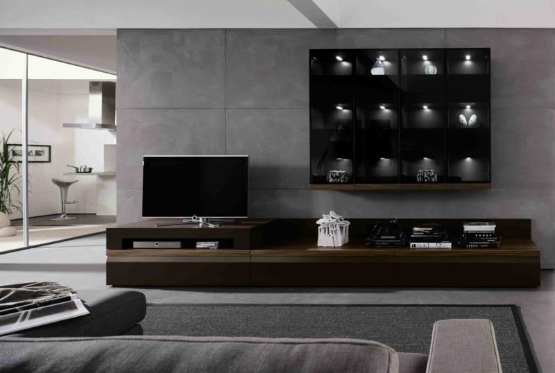 TV Wände Wohnzimmermöbel Holzmöbel TV Wohnwand Betonwand