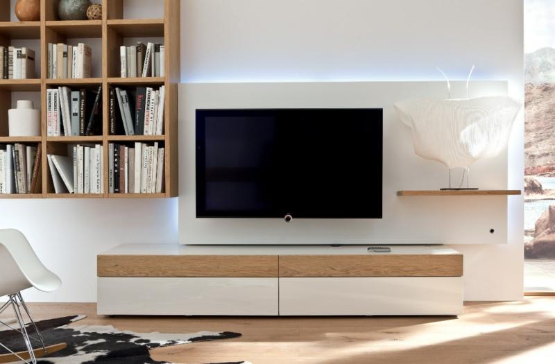 tv wnde wohnzimmermbel holzpaneele holzmbel bcherregal - Wohnzimmer Tv