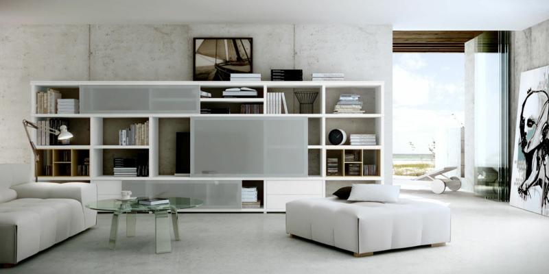 TV Wände Wohnzimmermöbel TV Wohnwand Hochglanz weiß