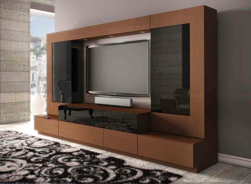 TV Wände Wohnzimmermöbel TV Wohnwand Holzmöbel