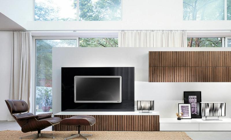 TV Wände Wohnzimmermöbel TV Wohnwand Relax Sessel