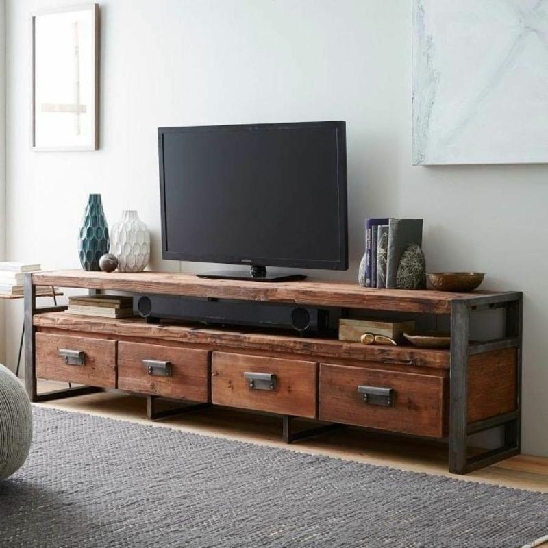 TV Wände Wohnzimmermöbel vintage TV Wohnwand Holzmöbel