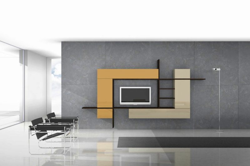 tv wohnwand modern betonwand wohnzimmerm bel tv w nde tv. Black Bedroom Furniture Sets. Home Design Ideas