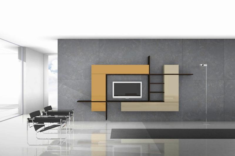 Wohnzimmer farben ideen for Designer wohnwand modern