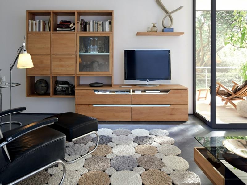 tv wohnwand modern holz wandregale wohnzimmermbel tv wnde - Wohnwand Holz