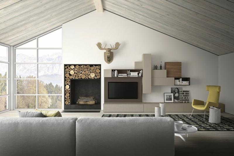 Die Moderne Wohnwand : Die moderne Wohnwand ist praktisch und bietet viel Stauraum an
