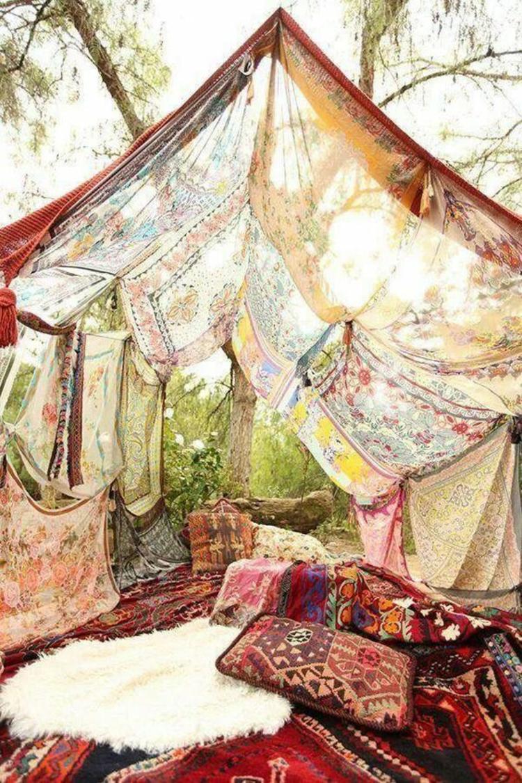Tischdeko Gartenparty Deko selber machen orientalischer Stil