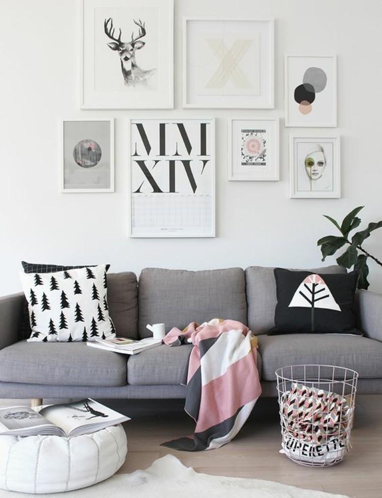 Wohnungseinrichtung Ideen Wohnzimmer Wand gestalten