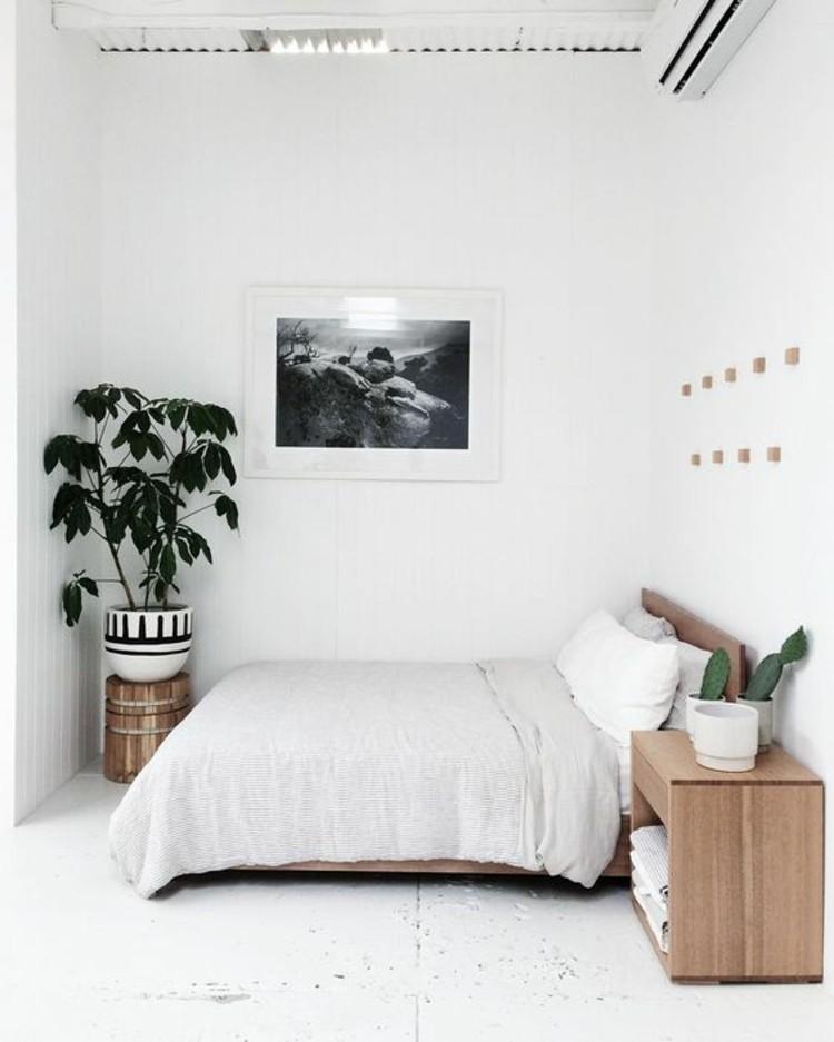Wohnungseinrichtung Ideen schlichte Schlafzimmereinrichtung