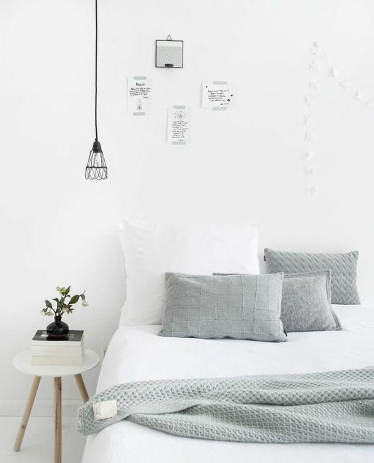 minimalismus schlafzimmer in weis. Black Bedroom Furniture Sets. Home Design Ideas