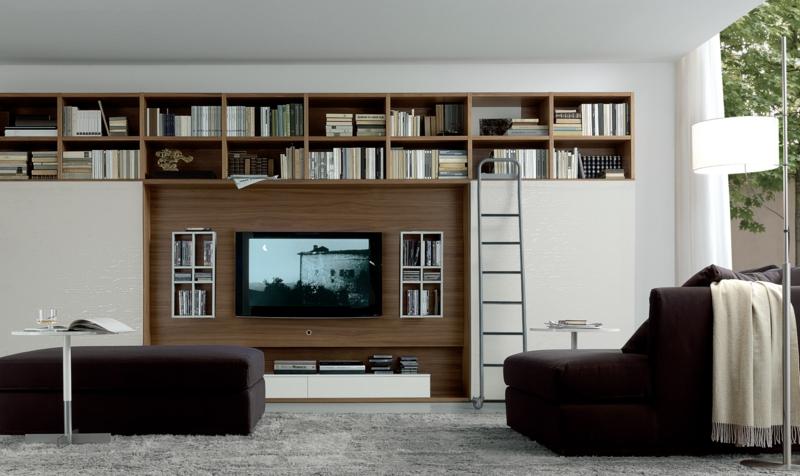 Die Moderne Wohnwand Ist Praktisch Und Bietet Viel Stauraum An