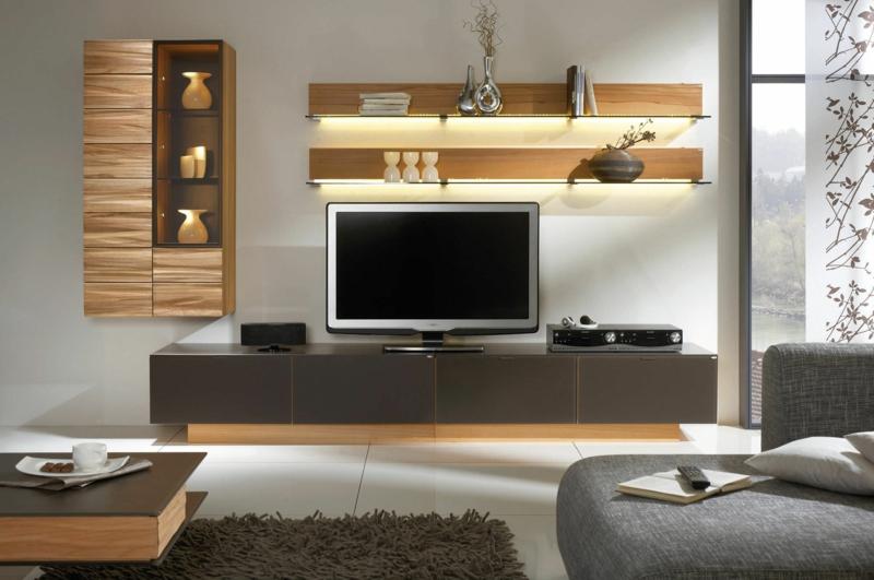 Die Moderne Wohnwand Ist Praktisch Und Bietet Viel Stauraum An ...