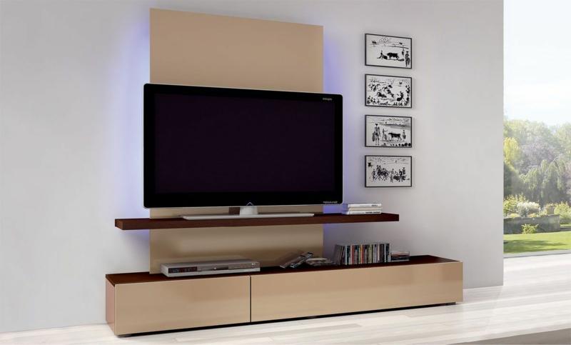 Wohnwand Modern Holz sdatec.com