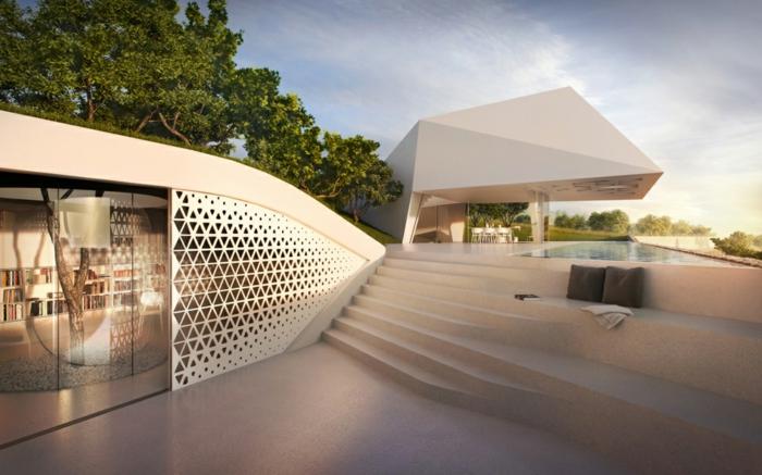 außergewöhnliche ferienhäuser moderne architektur gerade linien minimalistisch