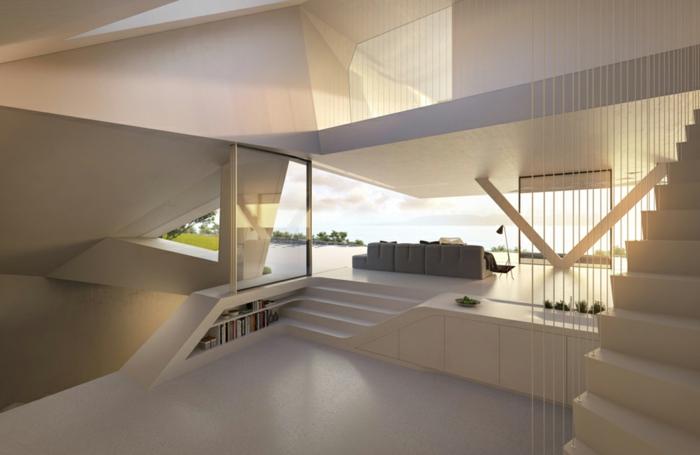 außergewöhnliche ferienhäuser modernes innendesign minimalistischer wohnstil