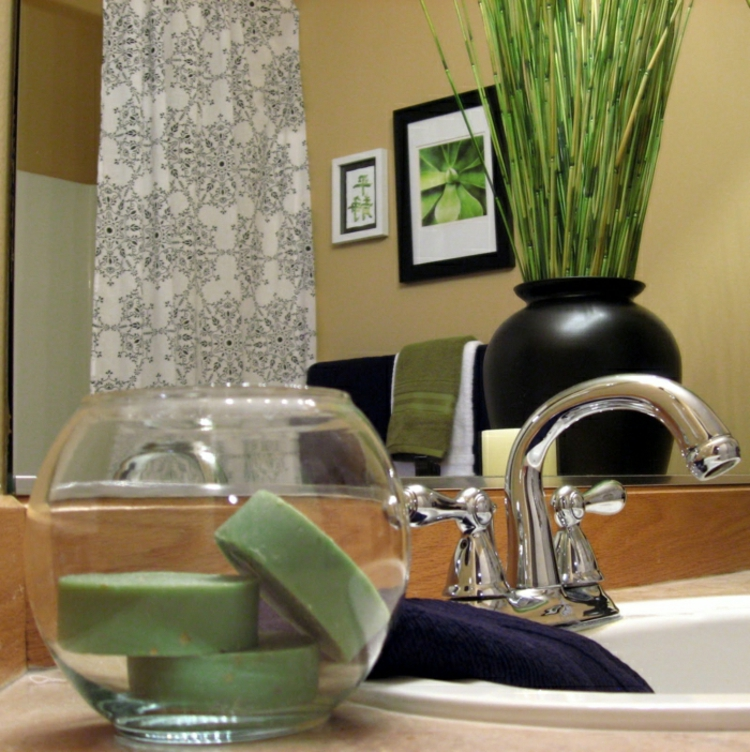 badezimmer gestalten pflanzen kerzen feng shui