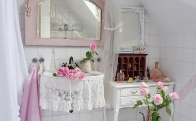 shabby chic badezimmer. Black Bedroom Furniture Sets. Home Design Ideas