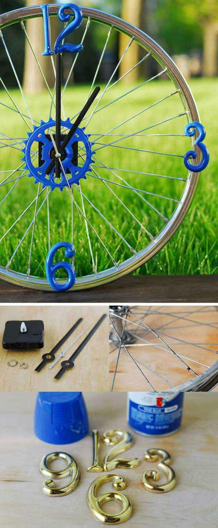 upcycling ideen bastelideen deko ideen diy ideen einrichtungsbeispiele fahrräder uhr