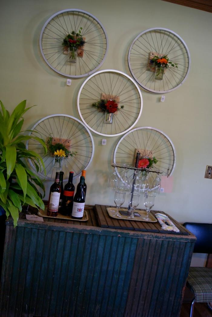 deko ideen diy ideen einrichtungsbeispiele fahrradseiten wandgestaltung2