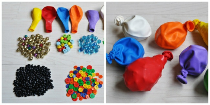 Crafts with craft DIY ideas of children playing water games with balloons