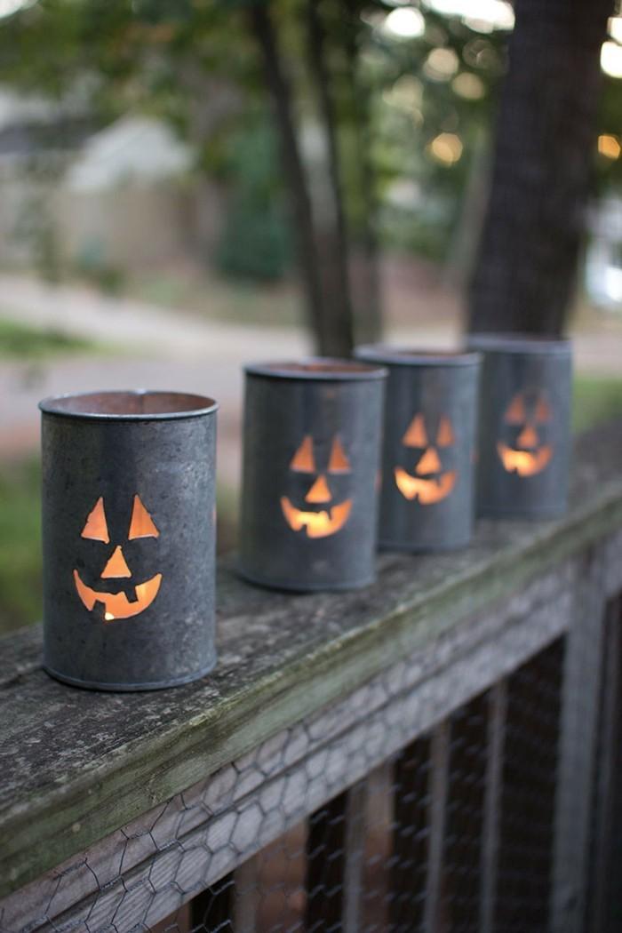bastelideen laternen windlichter weiß diy ideen halloween deko ideen