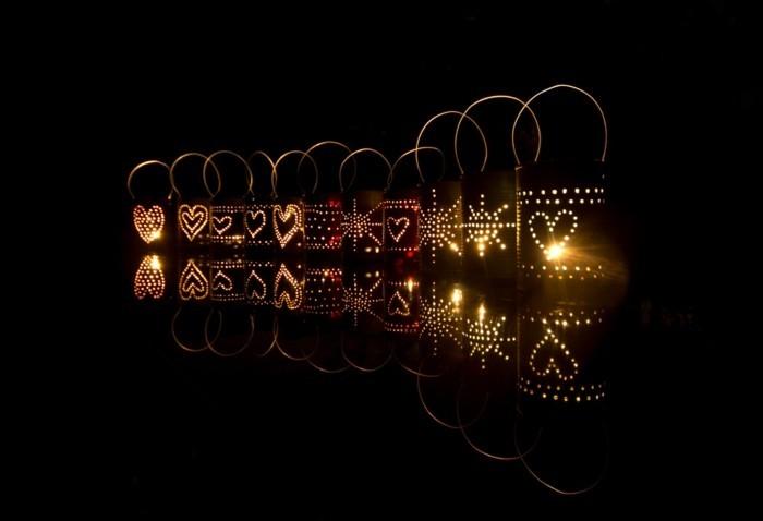 bastelideen laternen windlichter weiß diy ideen spiegelung