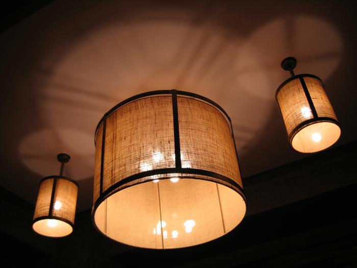 beleuchtung lampion pendelleuchten stoff deckenleuchte