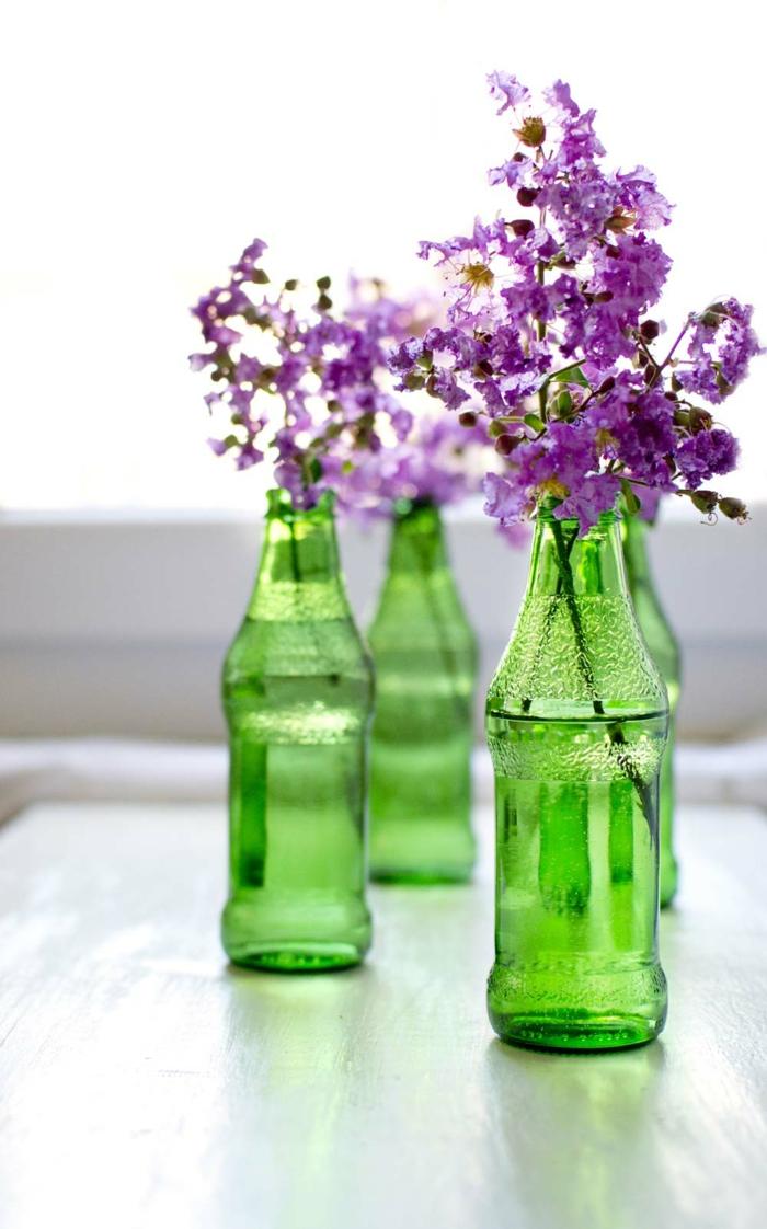 blumendeko ausgefallene vasen flaschen