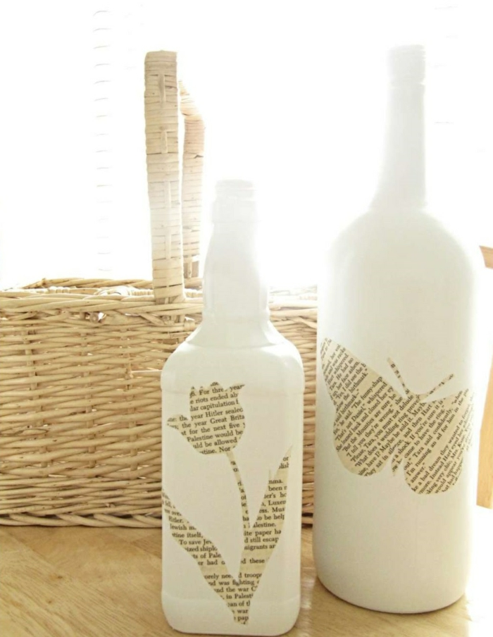 deko flaschen ausgefallene dekoideen wohnideen