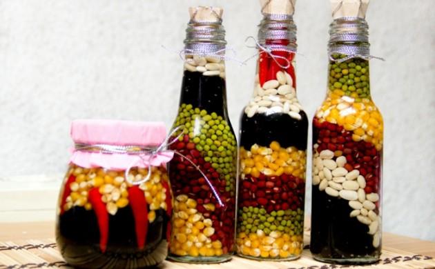 deko-flaschen-küchendesign-dekoideen
