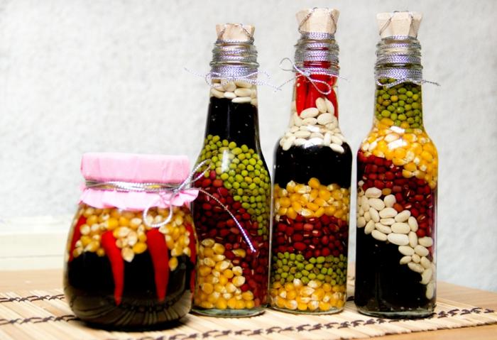 Deko Flaschen Als Accessoires In Der Küche Ausstellen. Deko Flaschen  Küchendesign Dekoideen