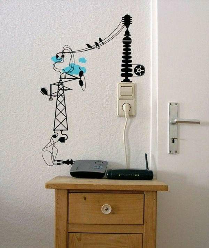 Wand tv Kabel Verstecken - Garten Ideen Kinder