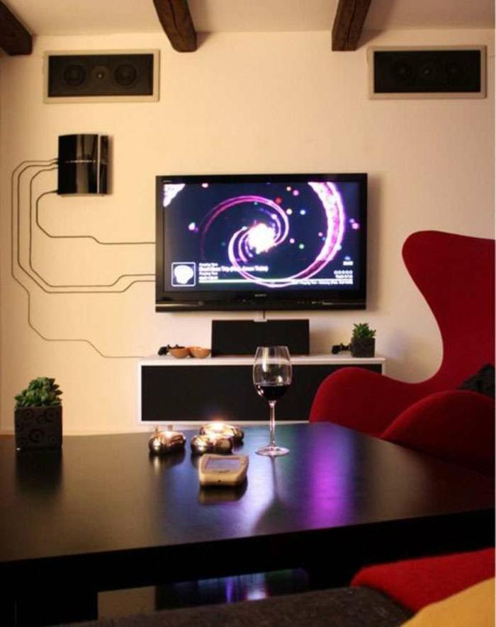 Affordable Wand Fernseher Kabel Verstecken Free Tv Wand Selber Bauen Diy  Deko Ideen With Fernseher Wand.