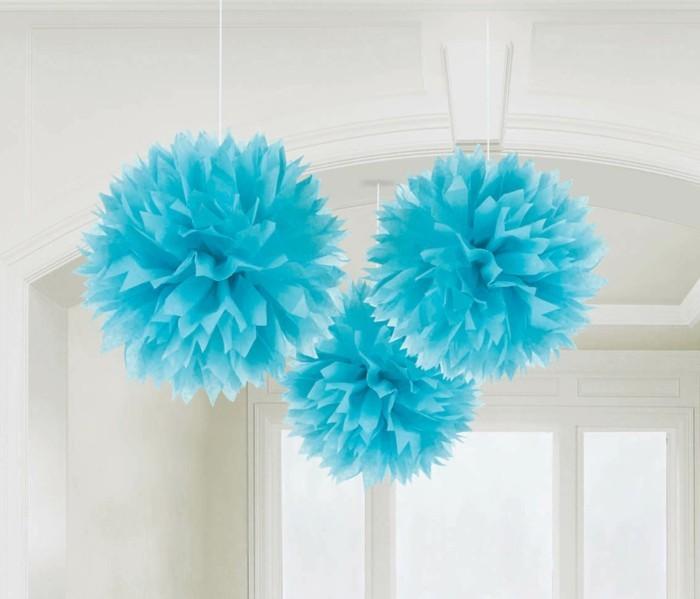 diy deko blaue laternen basteln papier