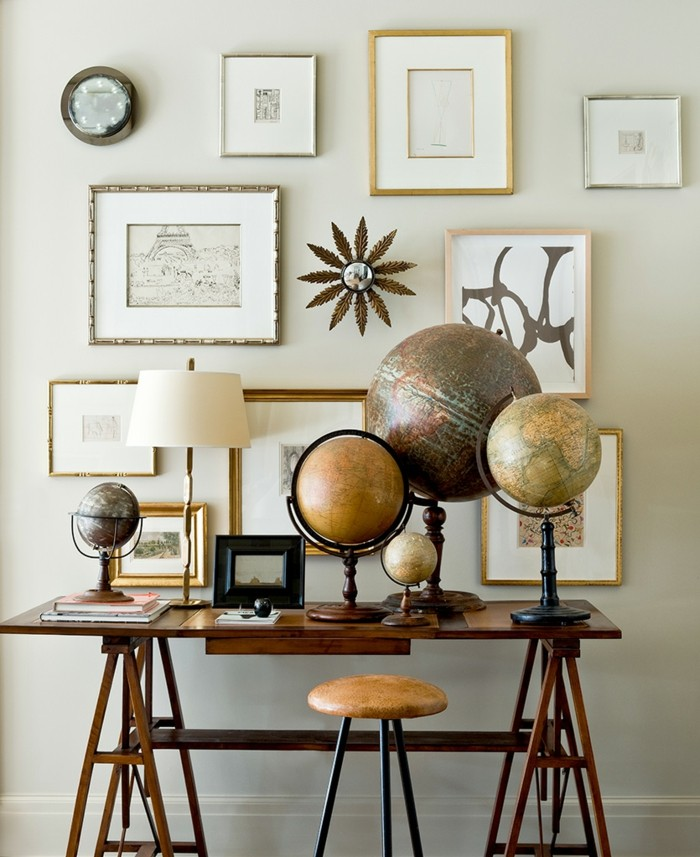 diy deko mit globen und dekoideen mit weltkarten - 44 einzigartige, Wohnideen design