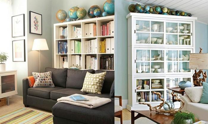 diy deko globen wohnzimmer dekoideen pfanzen dekokissen